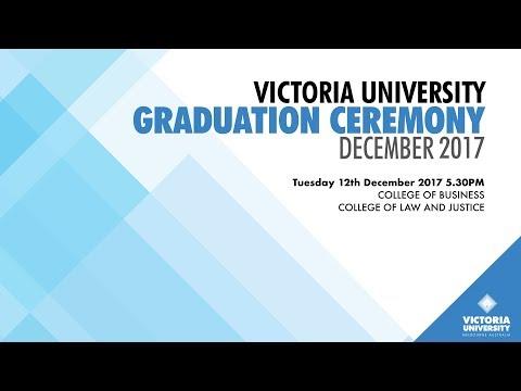 Victoria University, December 2017 Graduation. Ceremony 3
