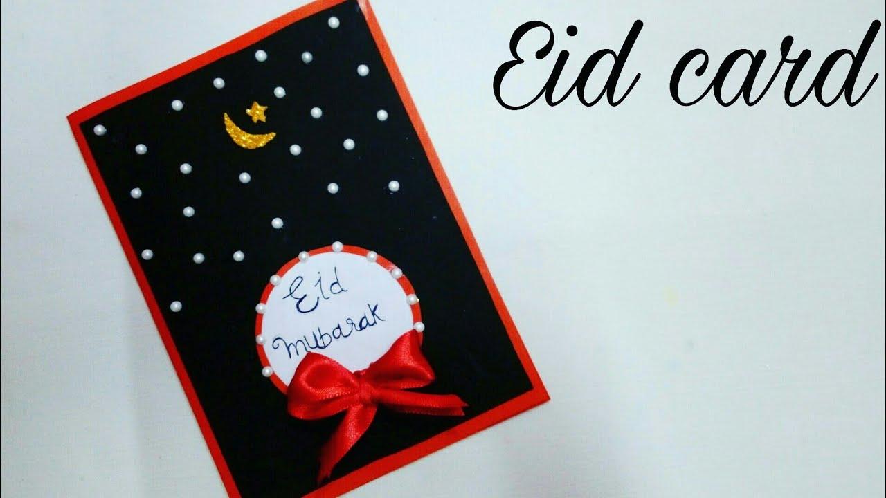 how to make eid cardeid mubarak greeting carddiy paper