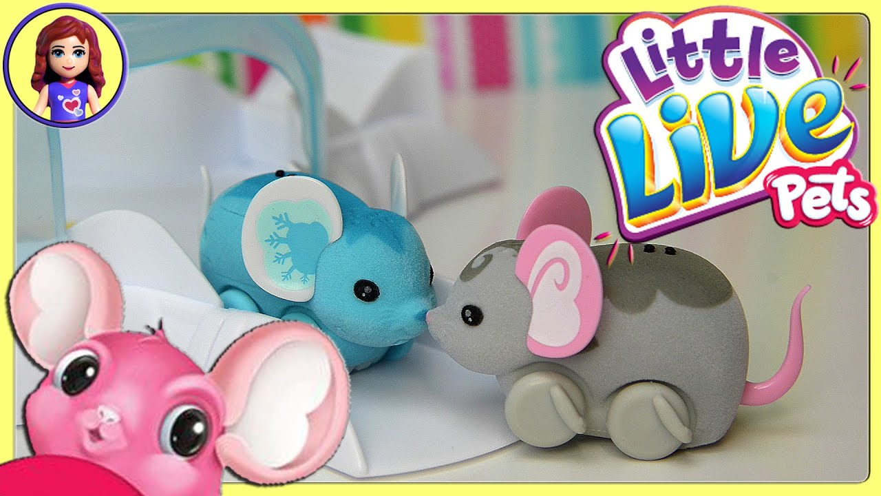 Little Live Pets Lil Mouse House Trail two Mice Chatter Smooch