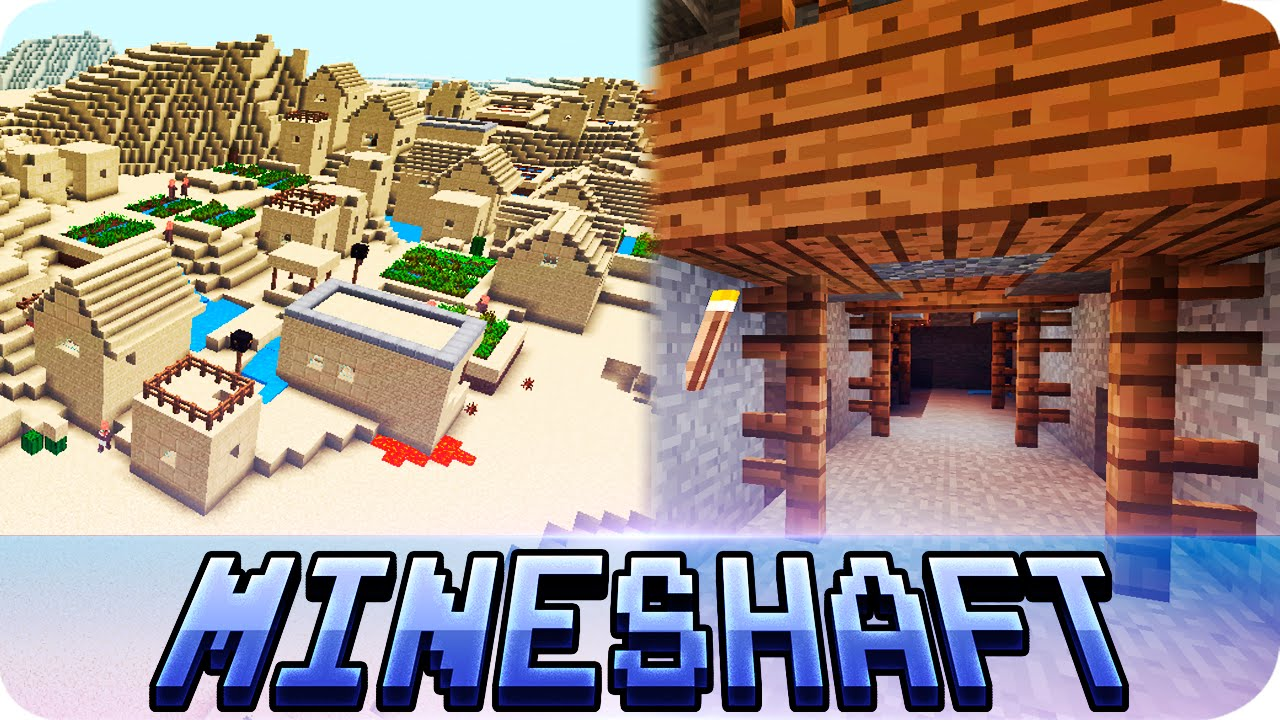 Minecraft PE Seeds - Abandoned Mineshaft Under Village Seed - 0 16 0 /  0 15 0 MCPE