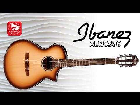 Электроакустическая гитара IBANEZ AEWC300 (с тонким корпусом, нейлоновыми струнами и вырезом)