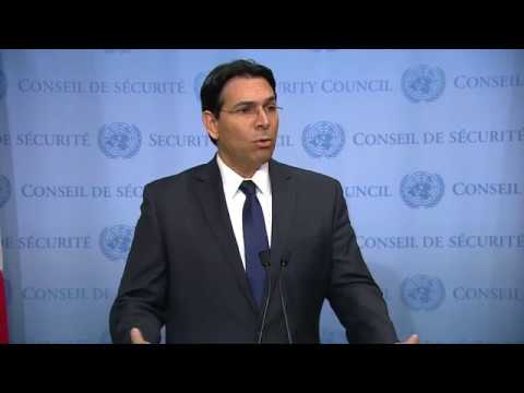Danny Danon (Israel) on the Middle East - Media Stakeout (18 October 2017)