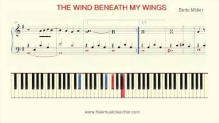 "How To Play Piano: ""Wind Beneath My Wings""  by Bette Midler"