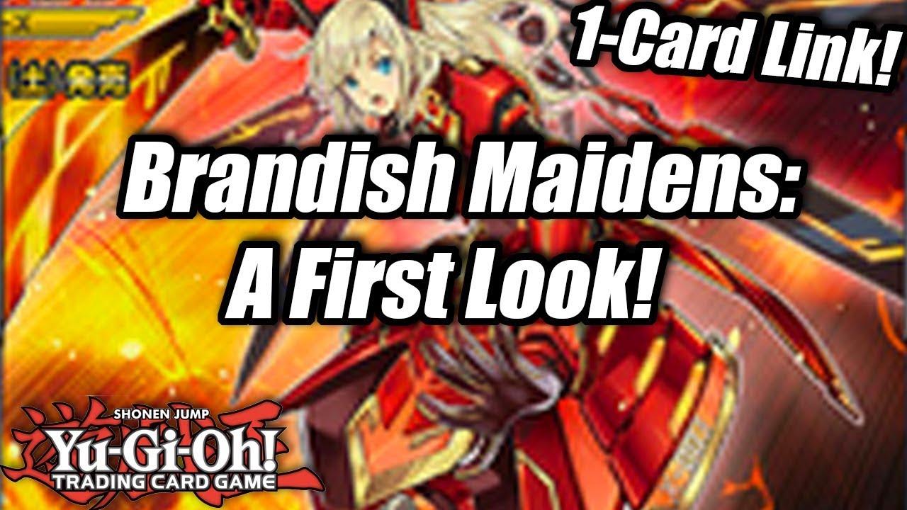 yugioh brandish maiden archetype a first look 1card