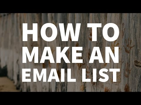 How to add a mailing list to your website - Email marketing 2017 - Live with Triston