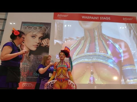 Circus Bodypaint Presentation at Professional Beauty London - Feb 2016