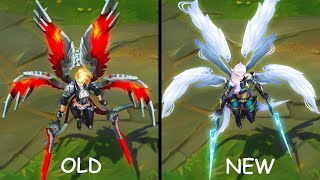 All OLD and NEW Pentakill Skins Texture Comparison (League of Legends)