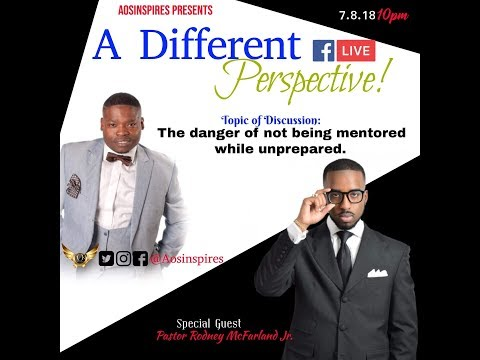 A Different Perspectie Interview Pastor Rodney Mcfarland Jr. Closing with a Song