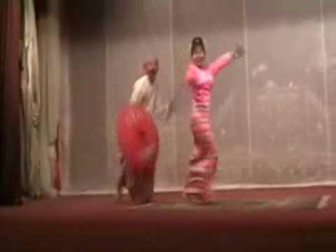 Burmese Comedy Dance Duet: U Shwe Yoe & Daw Moe