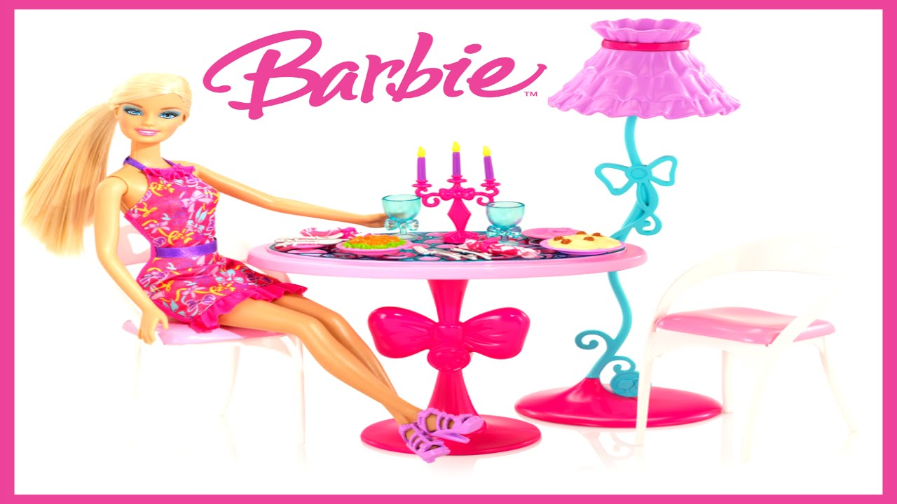 Barbie Glam Dining Set Life In the DreamHouse Cute Dining  : maxresdefault from www.youtube.com size 1280 x 720 jpeg 102kB