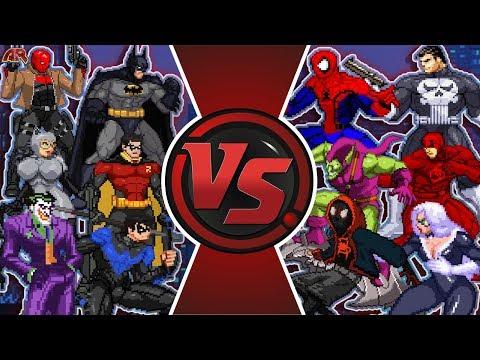 BATMAN Vs SPIDER-MAN TOTAL WAR! (Marvel Vs DC Comics, Avengers Vs Justice League Animation)