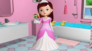 Fun Baby Girl Care Bath Dress Up Feed - Ava the 3D Doll Dance & Learn Colors Gameplay
