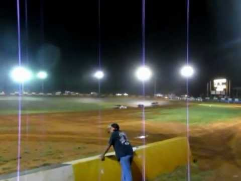 Brock Love's Hobby Stock race at Green Valley Speedway 8/4/12
