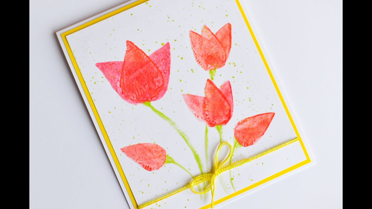 How To Make Easy Greeting Card Womens Mothers Day Spring Step