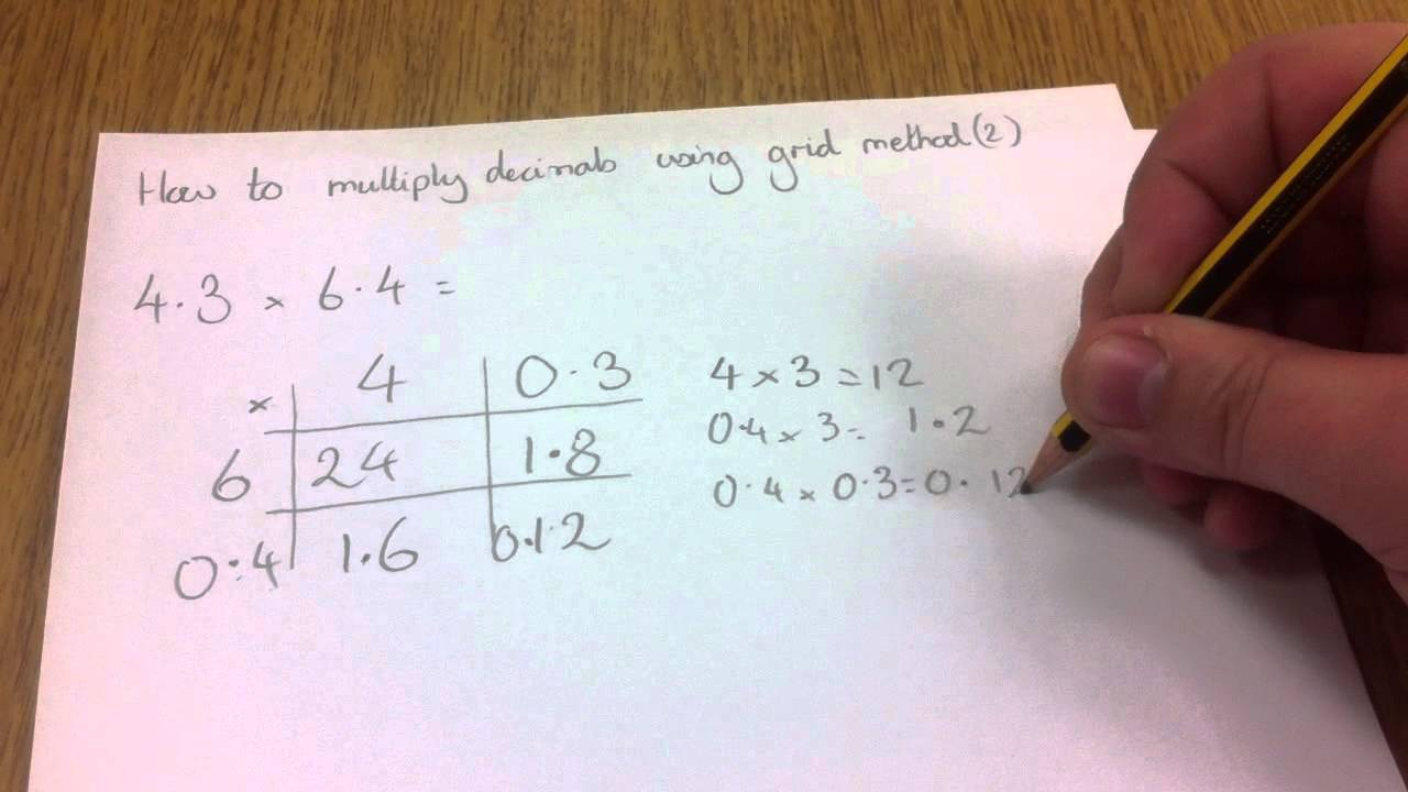 How to use grid method to multiply decimals 2 YouTube – Ks2 Grid Method Multiplication Worksheet