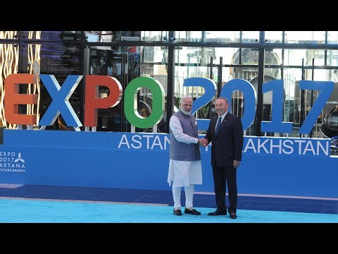 PM Narendra Modi at inauguration of Astana EXPO 2017 in Astana, Kazakhstan