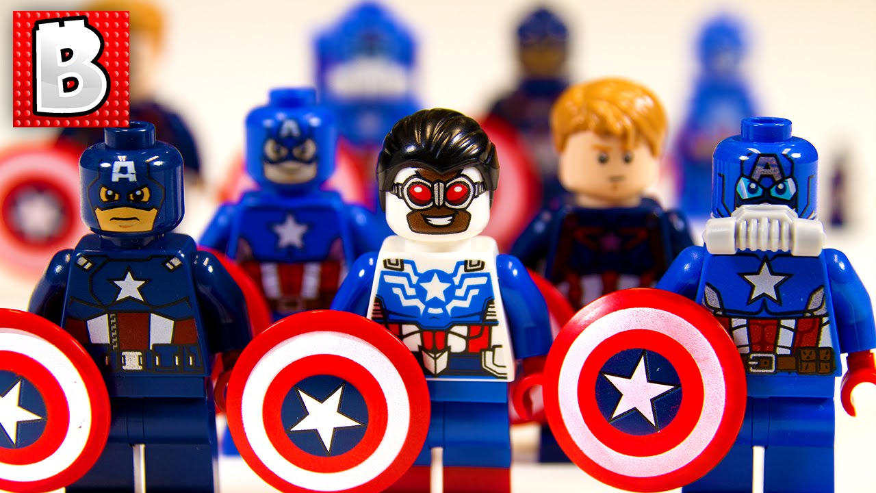 Every lego captain america minifigure ever rare sam wilson captain america collection - Lego capitaine america ...
