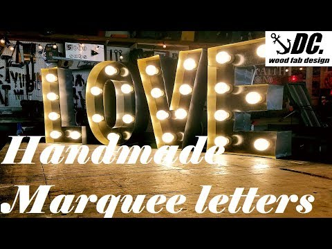 Marquee Letters Verlichting : Diy marquee letters how to youtube
