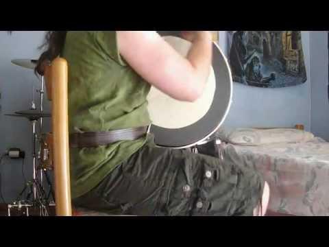Playing the bodhrán: De Danann, 12/6/12