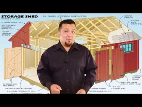 10x20 Shed Plans Youtube