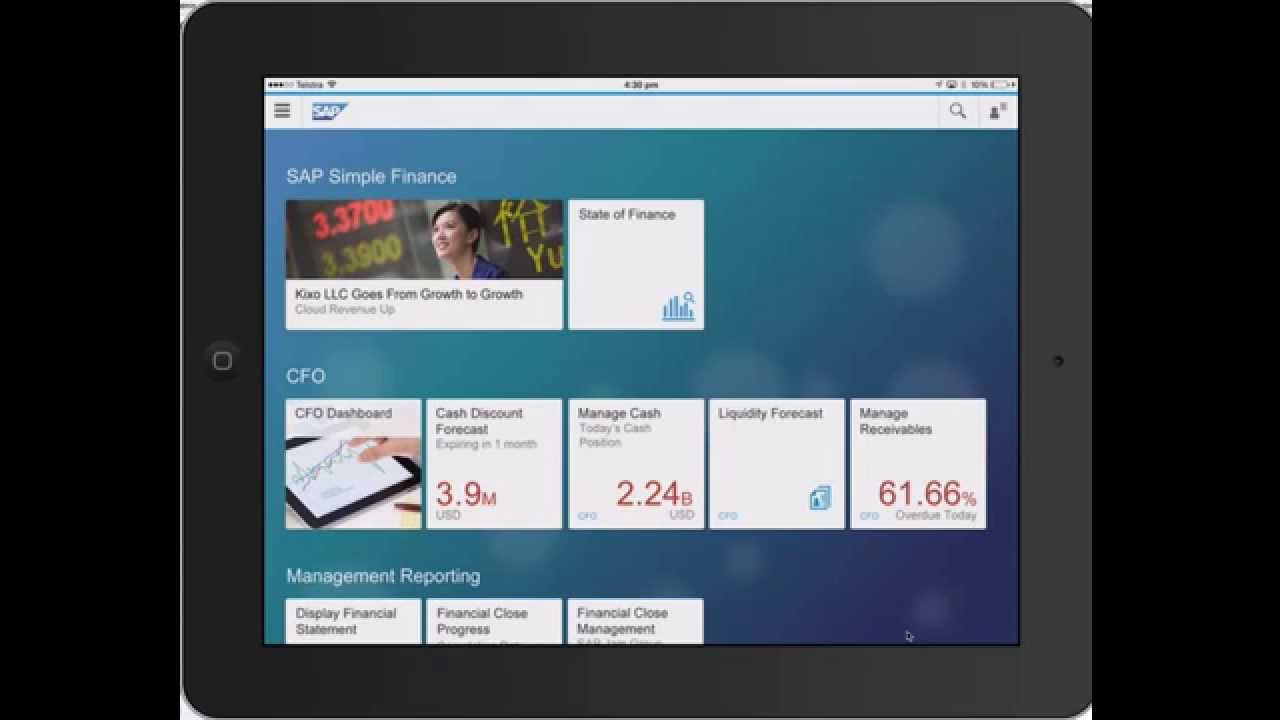 Fiori Youtube Sap.Sap Simple Finance Fiori Dashboard On S4 Hana Acclimation Demo