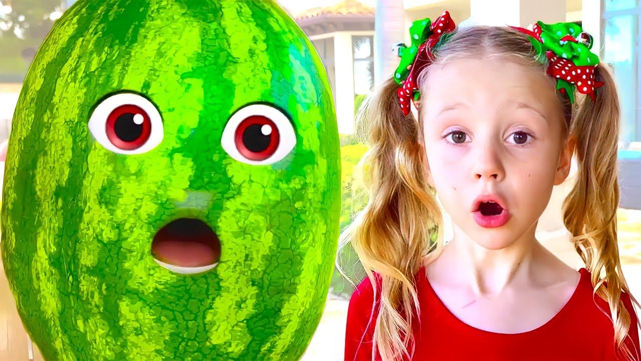 Nastya et pastèque avec une histoire fictive pour les enfants