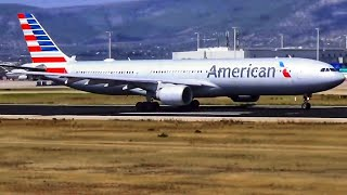 American Airlines & Delta A330 Takeoff from ATHENS! ATC Comms - LGAV RAMP TOUR 2018!