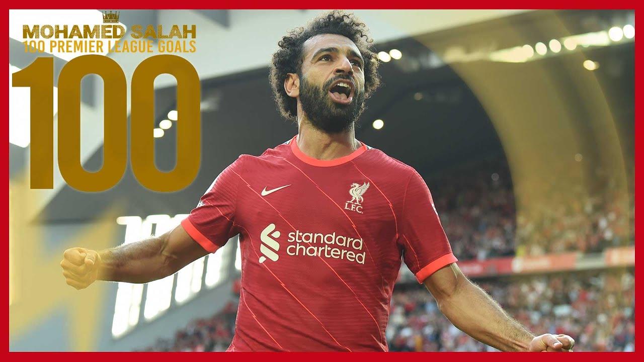 Mo Salah's 100 Liverpool Premier League goals   Man Utd celeb, Chelsea screamer & Everton stunner