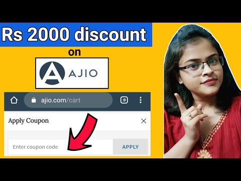 Ajio Discount Code ll Get Rs 2000 off using Ajio Coupon Code