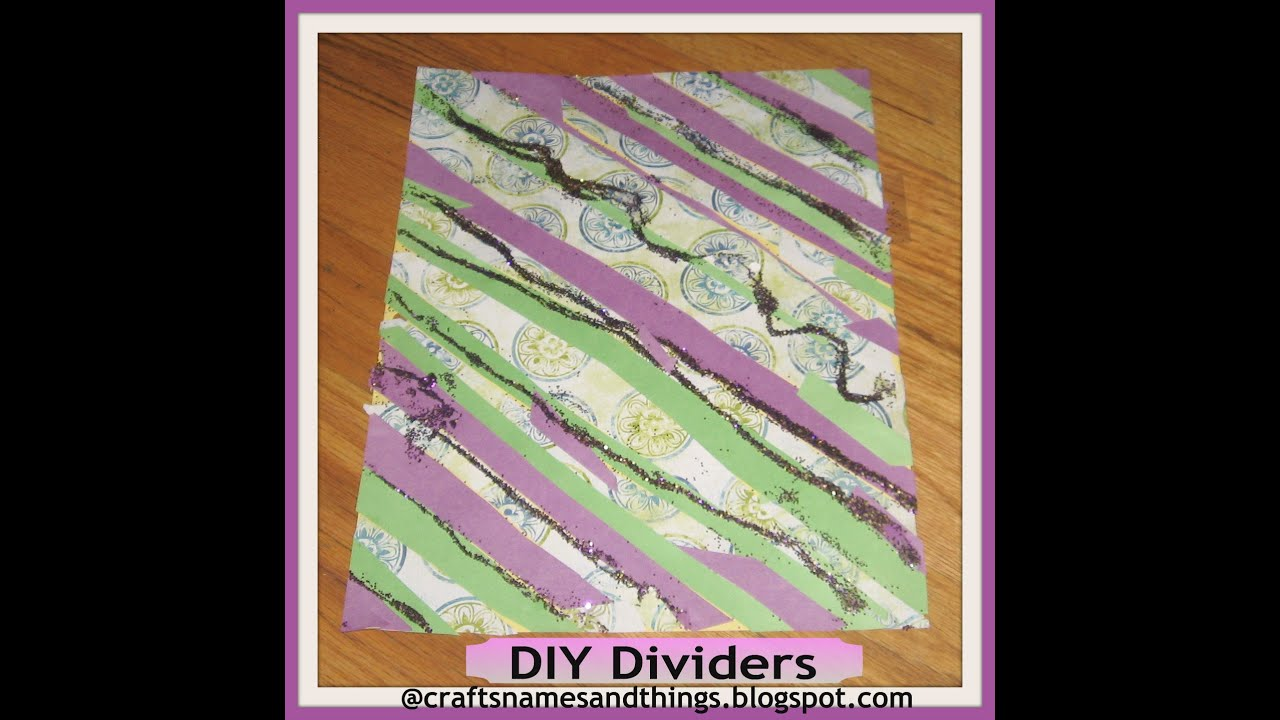 DIY Decorated Binder DividersHow To Make Cheap College Glitter