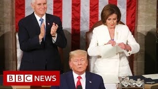 State of the Union: Trump hails 'American comeback' - BBC News