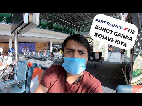 INDIA TO PARIS WITHOUT VISA | AIR FRANCE BAD BEHAVIOUR AT MUMBAI AIRPORT