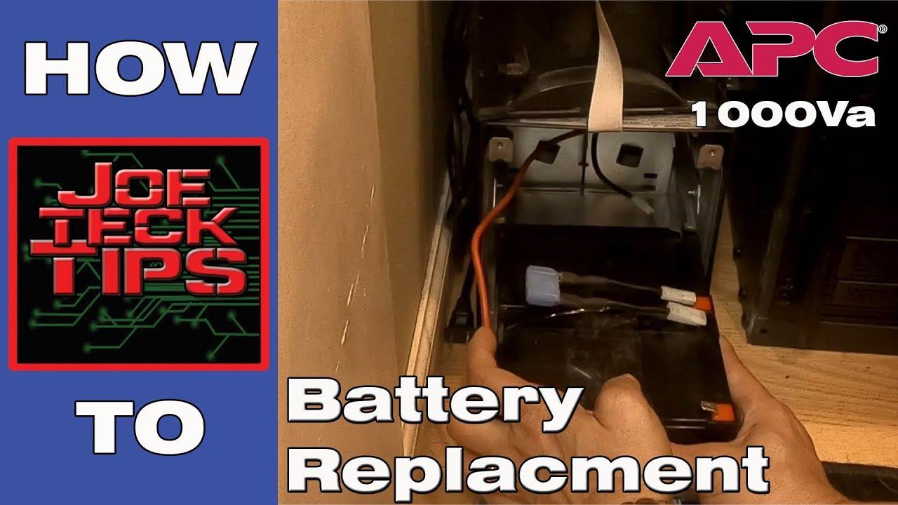 how to apc smart ups 1000va battery replacement joetecktips [ 1280 x 720 Pixel ]