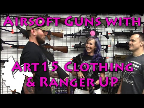 Airsoft Guns with Art15 Clothing & Ranger Up (Airsoft Extreme Torrance)