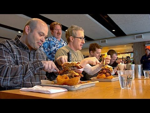 "Danettes v. Food - PART 4: The 10,000-Calorie ""Meat Your Maker"" Challenge 