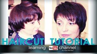 haircut women asymmetric tutorial (женская асимметричная стрижка)
