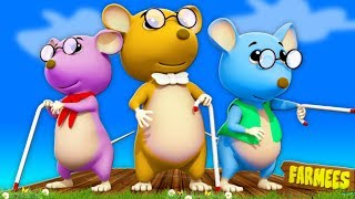 Drei blinde Mäuse | Kinderreime Kinder Lieder | 3DRhyme | Farmees Song for Kids | Three Blind Mice