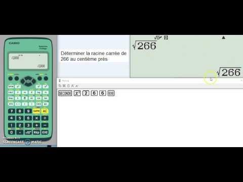 CYCLE 4-Déterminer la racine carrée d'un nombre avec la calculatrice CASIO