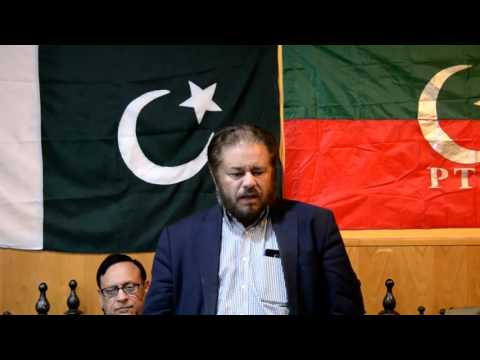 Press conference against corruption in Pakistan