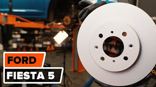 How to replace Disk pads on FORD FIESTA V (JH_, JD_) - video tutorial