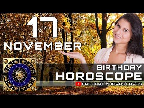November 17 - Birthday Horoscope Personality