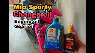 How to change oil in mio sporty  | Gear oil and Engine oil