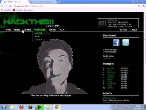 [TUTO]Comment devenir un hackeur avec HackThis !