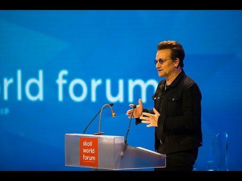 Bono receives the Skoll Foundation Global Treasure Award at the Skoll World Forum #SkollWF 2017