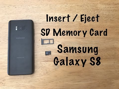 How to Insert / eject SD Memory card - Samsung Galaxy S8/S8+