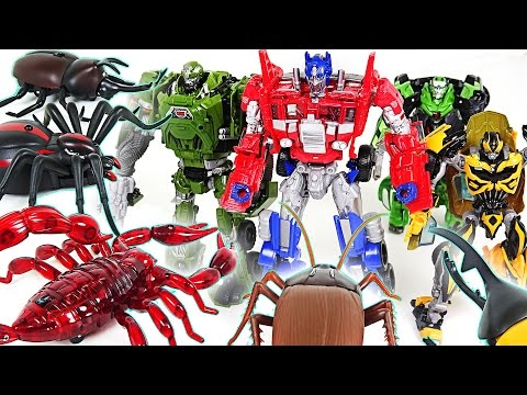 Thumbnail: Transformers VS Insect army!! Save Peppa Pig from Robot spider, Scorpion, Cockroach!! - DuDuPopTOY