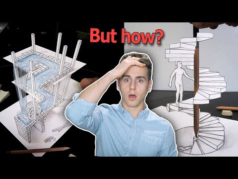 You're Looking At A Flat Drawing (Insane 3-D Illusions)