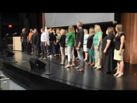 Flash Mob 'One Day More' (Les Mis...with CC subtitles)  - West Des Moines Schools - Welcome Back