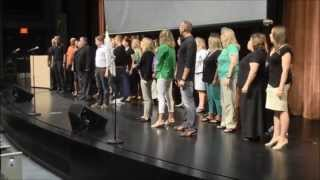 "Flash Mob ""One Day More"" (Les Mis...with CC subtitles)  - West Des Moines Schools - Welcome Back"