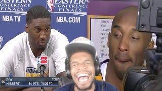 LMAOOO KOBE STOP ROASTING HIM! NBA PLAYERS MAD AT REPORTERS REACTION!